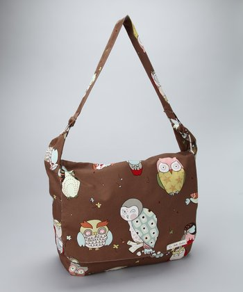 La Bella Couture Owl Messenger Diaper Bag