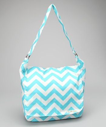 La Bella Couture Aqua Zigzag Messenger Bag