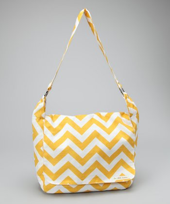 La Bella Couture Yellow Zigzag Messenger Bag