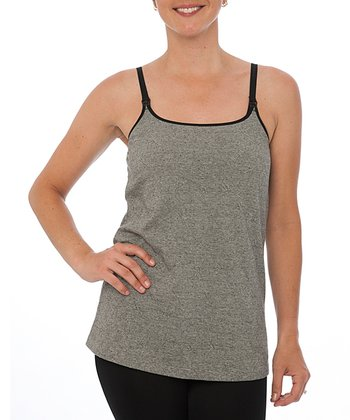 Black Jacquard Nursing Camisole - Women & Plus