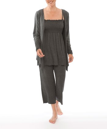 Charcoal Maternity & Nursing Pants Set - Women & Plus