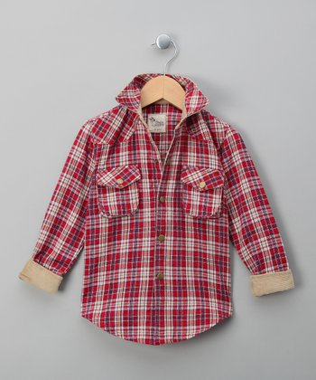 Red Plaid Jack Button-Up - Toddler & Boys