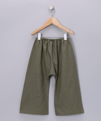 Olive Sarouel Flare Pants - Infant, Toddler & Boys