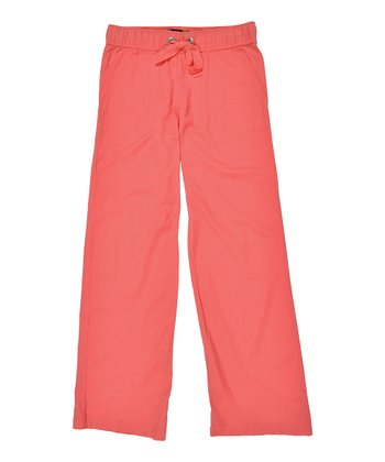 Coral Heat of the Night Pants