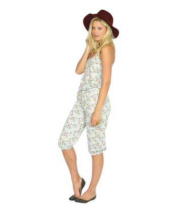 Aqua Flower Jumpsuit