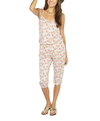 Pink Flower Jumpsuit