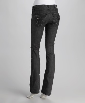 Black Dana Point Straight-Leg Jeans