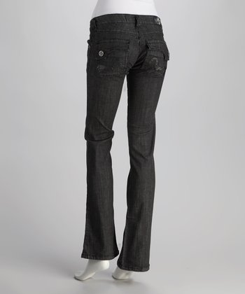 Black Sunset Bootcut Jeans