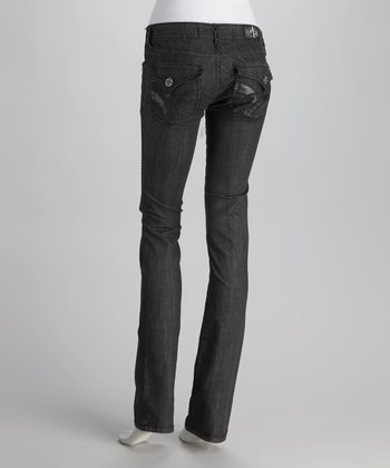 Black Seal Beach Straight-Leg Jeans