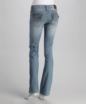 Light Blue Huntington Beach Straight-Leg Jeans