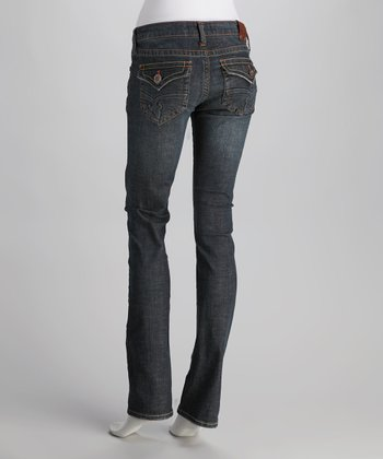 Laguna Beach Raw Blue Crystal Cove Straight-Leg Jeans
