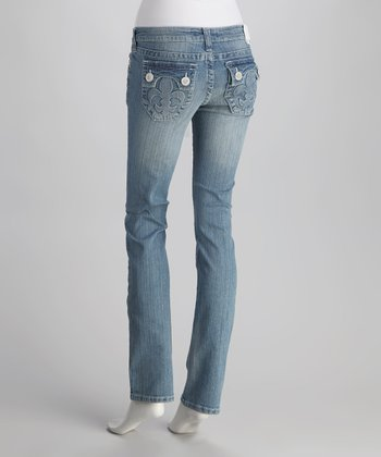 Light Blue Hermosa Beach Straight-Leg Jeans
