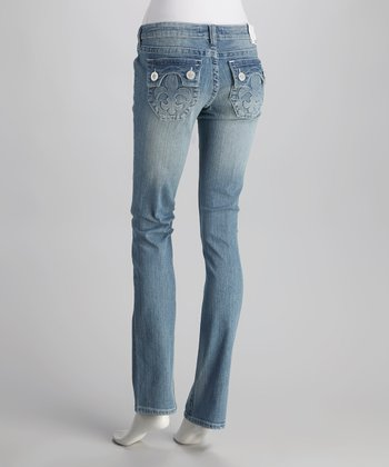 Laguna Beach Powder Blue Hermosa Beach Straight-Leg Jeans