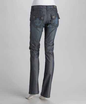 Raw Blue Hermosa Beach Tattoo Straight-Leg Jeans
