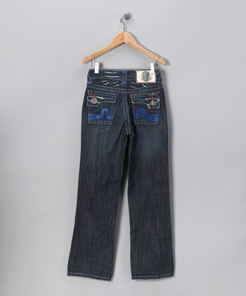 Blue Stitch Sunset Beach Jeans - Boys