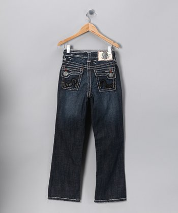 Black Stitch Sunset Beach Jeans - Boys