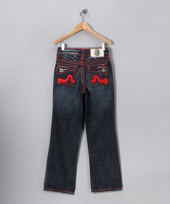 Red Stitch Sunset Beach Jeans - Boys