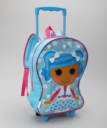 Blue Mittens Fluff 'n' Stuff Rolling Backpack