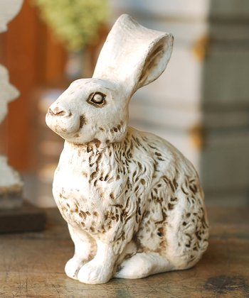 Lancaster Home Sitting Clover Rabbit Figurine