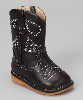 Dark Walnut Squeaker Cowboy Boot