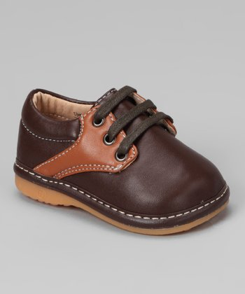 Brown Squeaker Saddle Shoe