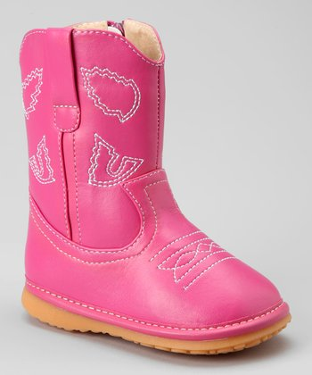Hot Pink Cowgirl Squeaker Boot
