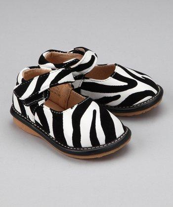 Laniecakes Black & White Zebra Squeaker Mary Jane