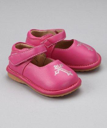 Laniecakes Hot Pink Cross Squeaker Mary Jane