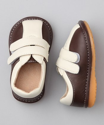 Brown & Cream Squeaker Shoe