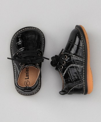 Black Alligator Squeaker Shoe