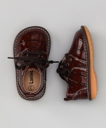 Brown Alligator Squeaker Shoe