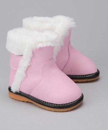 Laniecakes Light Pink Faux Fur Squeaker Boot
