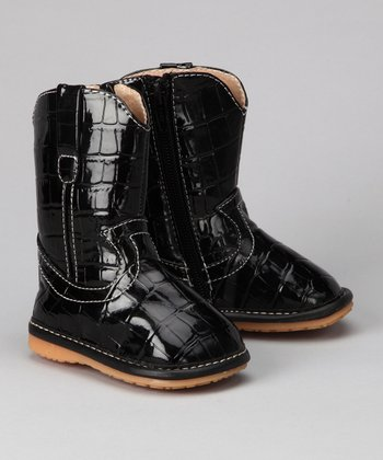 Black Alligator Squeaker Boot