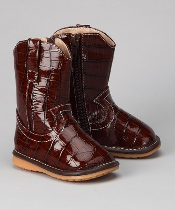 Brown Alligator Squeaker Boot
