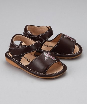 Brown Cross Squeaker Sandal