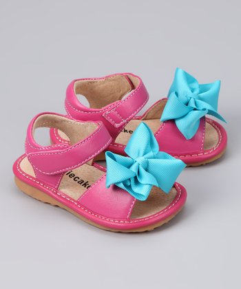 Laniecakes Hot Pink Add-A-Bow Squeaker Sandal