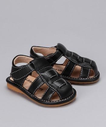 Laniecakes Black Squeaker Closed-Toe Sandal