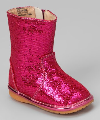 Hot Pink Princess Sparkle Squeaker Cowboy Boot