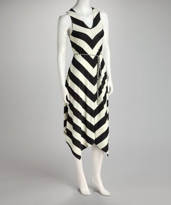 Black & White Stripe Handkerchief Dress