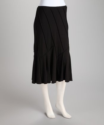 Black Convertible Swoop Skirt