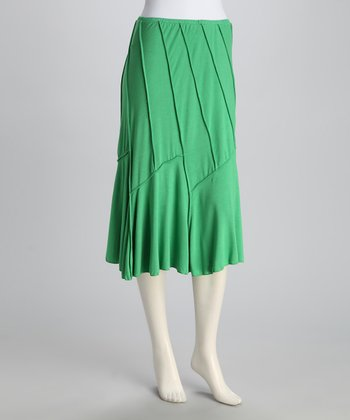 Green Convertible Swoop Skirt