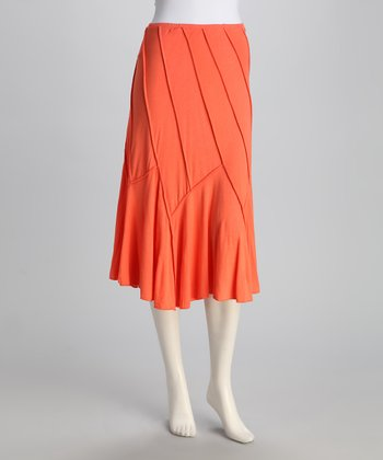 Peach Convertible Swoop Skirt