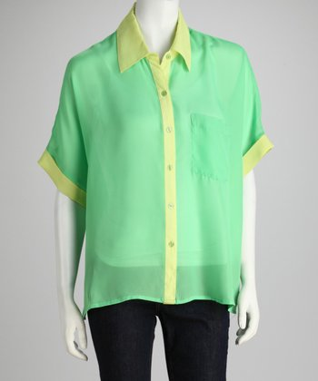 Larsen Grey Green & Yellow Camp Button-Up