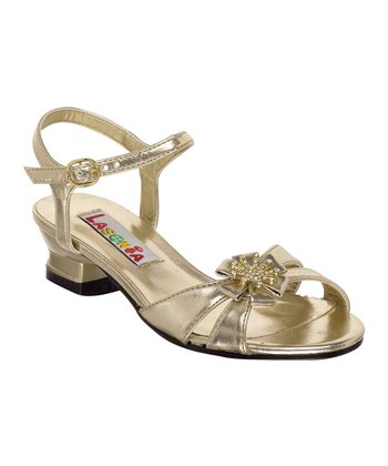 Gold Flower Sandal