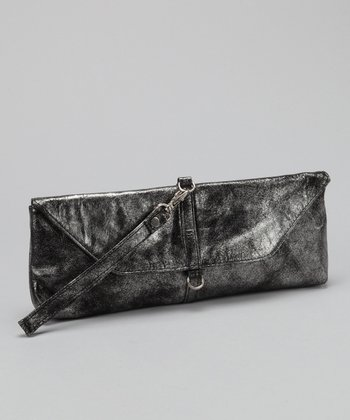 Burnished Silver Leah Convertible Clutch