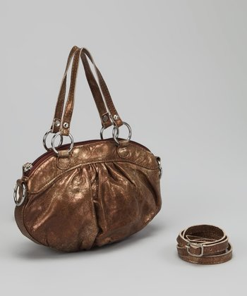 Burnished Bronze Violet Shoulder Bag