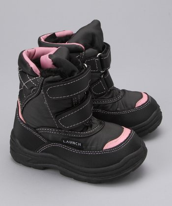 Pink Double-Strap Boot - Girls