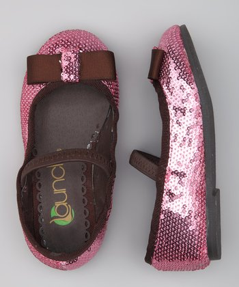 Pink Sequin Ballet Flat - Girls