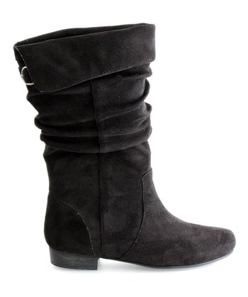 Black Slouch Boot - Kids