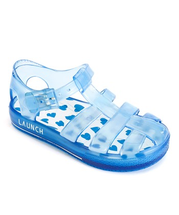 Blue Heart Jelly Sandal
